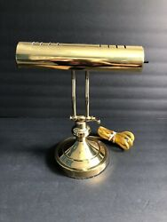 Vintage Two Way Adjustable Brass Bankers Piano Students Desk Lamp $21.00