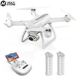 Holy Stone HS700D 2K HD camera drone 2 batteries brushless GPS quadcopter 5G FPV $219.99