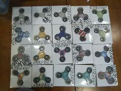 Assorted lot of 20 Hand Spinner Tri Fidget Spinner Gyro Figet Desk Toy EDC ADHD $25.00