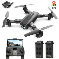 GPS foldable drone 1080P wifi camera FPV selfie quadcopter 2 battery tapfly S167 $115.99