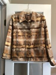 Susan Graver Jacket Small Shades Of Brown $11.00