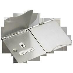 Knightsbridge 2G Unswitched Flat Plate Office Floor Socket Br Chrome FPR9UBCW $20.60