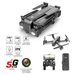 Holy Stone HS270 GPS Drone 2.7K camera 5G wifi FPV foldable RC quadcopter tapfly $135.99