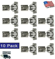10 Pack Soft Closing Compact 1 2 Overlay 105° Hinge Kitchen Cabinet Hardware $17.99