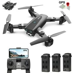 Foldable GPS drone 1080P HD wifi camera FPV selfie quadcopter 3 batteries tapfly $129.99