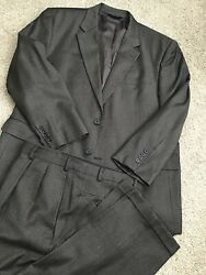 NICEEE! BEAUTIFUL JOS A BANK SUIT 48R BROWN BIRDS EYE. IN AN AMAZING CONDITION $69.00
