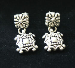 Fashion Custom Stud Mini Drop Dangle Silver Plated Ornate $12.95
