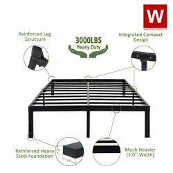Heavy Duty Steel Platform Bed Frame Metal Bed Frame with Storage Height 14quot; $195.99