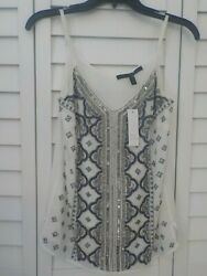 White House Black Market Beaded Sequin Embroided Camisole Tank XXS NWT $24.99
