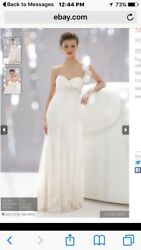 Wtoo Strapless Lace Wedding Dress With Train Size 14 $199.99