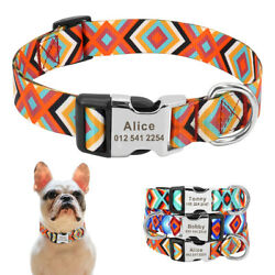 Fashion Custom Dog Collar Personalized Engraved ID Name Tags Buckle Adjustable $8.99