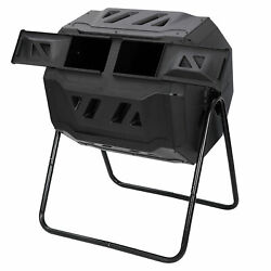 Composting Tumbler Dual Rotating Outdoor Garden Compost Bin High Quality $65.99