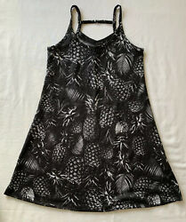 Hurley Girls Beach Dress Size S Small 8 10 Yrs Pineapple Print Black $11.95