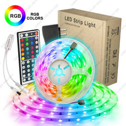 16.4ft RGB LED Light Strip 5050 LED Tape Lights with Remote and Control Box
