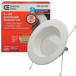 Commercial Electric 6 in. Selectable Integrated LED Downlight Dimmmable