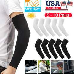 10 Pairs Cooling Arm Sleeves Cover Basketball Golf Sport UV Sun Protection Men $7.95