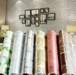 Self Adhesive Vinyl Wallpaper Roll Modern Decor Wall Cover Brick Decal Bedroom $35.85