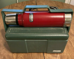 Stanley Aladdin Vintage Lunchbox amp; Thermos Set Good Condition $27.99