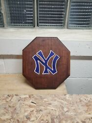 Yankees Hand Routed Painted And Stained Hanging Sign $15.00