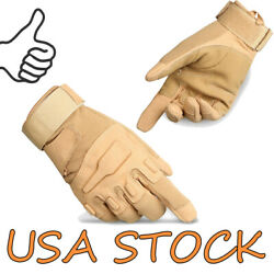 Tactical Gloves Army Military Outdoor Full Finger Touch Screen Gloves for Men $10.99