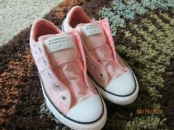 Converse All Star Youth Girls Light Pink Low Top Shoes Size 2 No Shoe Strings $24.99