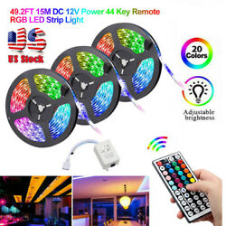 49FT 32FT Flexible 3528 RGB LED SMD Strip Light Fairy Lights Room TV Party Bar $18.79