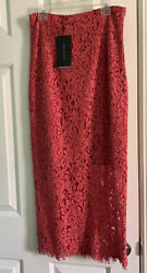 Zara Salmon Colored Lace Pencil Skirt Size S $19.00