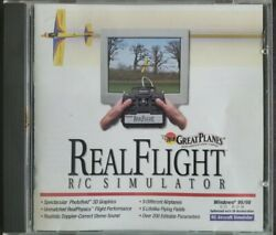 Great Planes Real Flight R C Airplane Simulator PC CD ROM Disc 1998 Software VGC $39.96