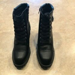 Madden NYC Womens Boots Size 6 Black Harrlee $25.00