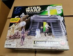 Star Wars The Power of The Force Endor Attack Playset Kenner 1997 New $52.00