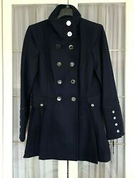 Calvin Klein Women#x27;s Skirted Navy Coat Double Breasted in size M RRP 275£ GBP 85.00