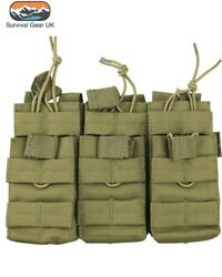 Coyote Tactical Triple Duo Mag Pouch MOLLE Ammo Airsoft Quick Release Military GBP 17.97