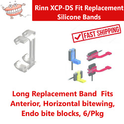 Dental Rinn XCP DS Fit Replacement Bands Long For Anterior Horiz Bitewing 6 Pk $26.10