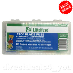 New Littelfuse 094409 ATO Blade Fuse Commercial Kit 80 fuses
