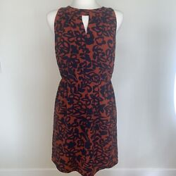 41 Hawthorn Sleeveless Dress Navy Cinch Waist Workplace Cocktail Size Medium $20.00