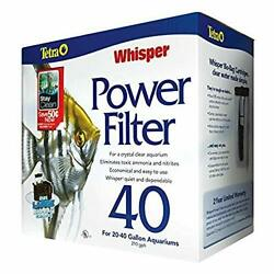 Whisper Power Aquarium Filter 3 Stage Filtration to Clear Water Up to 40 Gallons $19.72