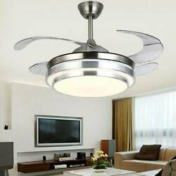 42quot;Invisible Fan Chandelier Light Lamp LED Fan Ceiling Remote Control Modern $125.99