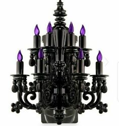 Halloween Bath amp; Body Works Chandelier Purple Wallflower Night Light Plug In NEW $79.99