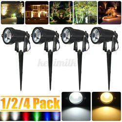 6W COB Garden Spotlight LED Outdoor Light Path Yard Landscape Lamp Waterproof