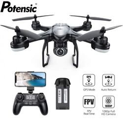 Potensic T18 GPS FPV Drone 1080P HD Camera RC Quadcopter Follow Me Drones $115.91