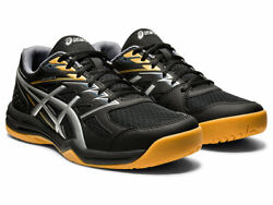 Asics UPCOURT 4 Men#x27;s 1071A053.001 BLACK SILVER Volleyball Indoor Court Shoes $54.95