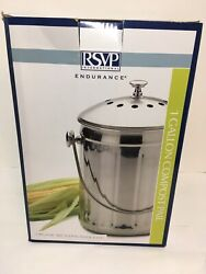 Endurance 1 Gal.Industrial Style 18 8 Stainless Steel Countertop Compost Pail $27.99