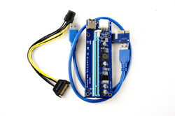 Lot of 7 PCI E Riser Mining VER 006C with 6 Pin Adapter US Seller Fast S... $18.97