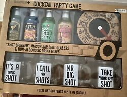 Bar Plus Party Games Cocktail Game W Shot Spinner Funny Shot Glasses Mixers $9.99
