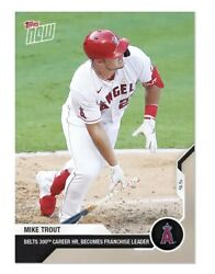 2020 Topps Now MIKE TROUT #215 Home Run #300 Sets New Angels Career HR Mark $6.99