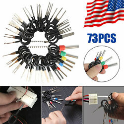 73Pcs Wire Terminal Removal Tool Car Electrical Wiring Crimp Connector Pin Kit $13.29