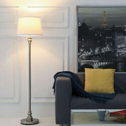 58 Inches Standing Lamp Floor Lamp for Living Room Bedroom with White Shade $49.89