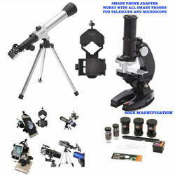 TELESCOPE FULL TRIPOD LUNAR AND FOR STAR OBSERVATION MICROSCOPE PHONE MOUNT $90.92