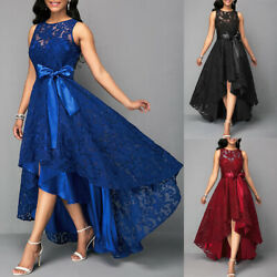 ❤️ Plus Size Womens Evening Party Lace Sleeveless Long Dress Cocktail Party Gown $33.89