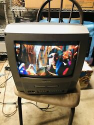 Emerson EWC13D4 13quot; CRT TV DVD Combo Tested Works $64.99